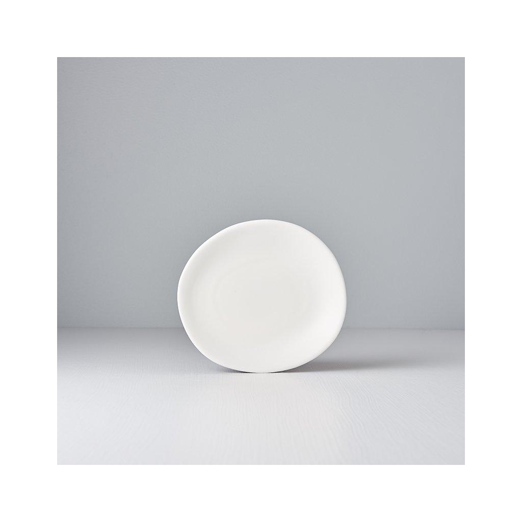 Irregular starter plate Modern 17 cm white
