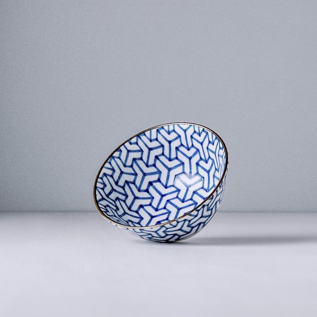 Medium bowl Herringbone Indigo Ikat 13 cm