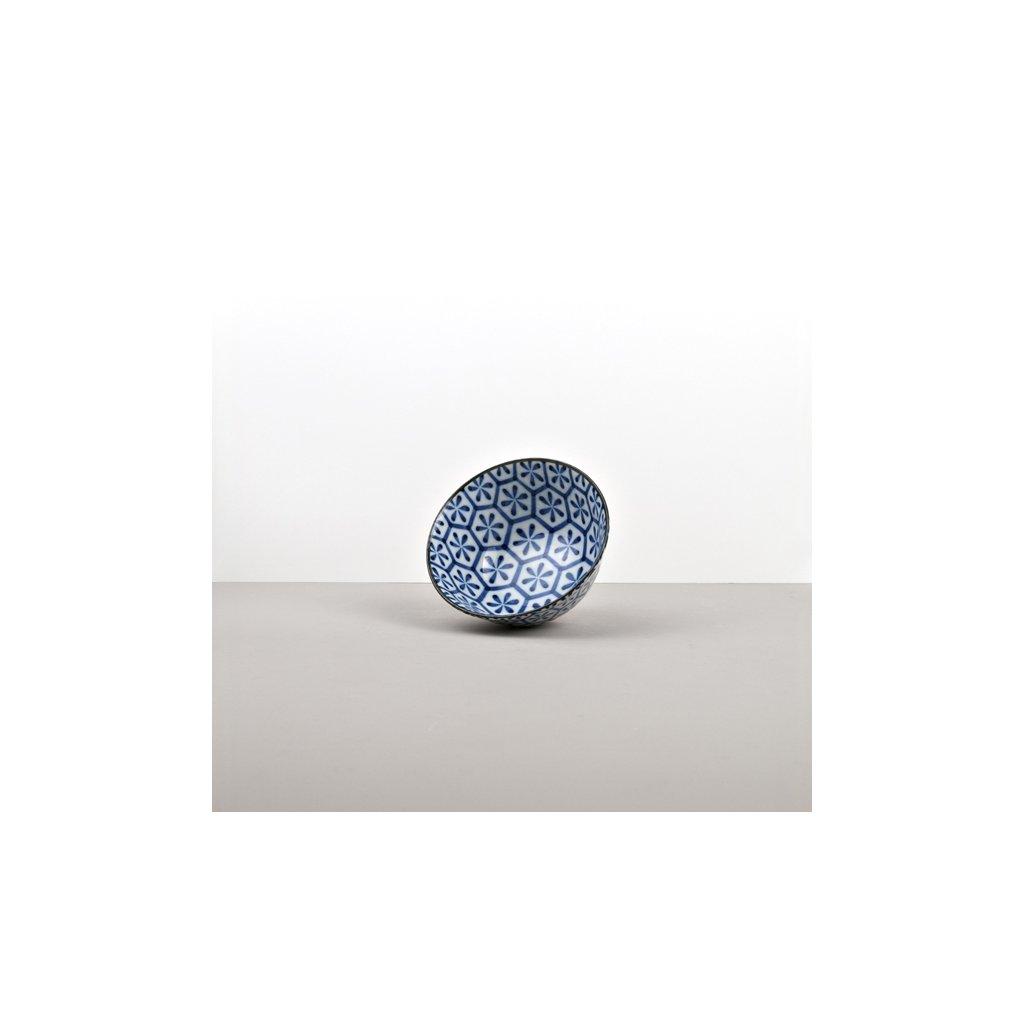 Medium bowl Hexagon Indigo Ikat 13,5 cm