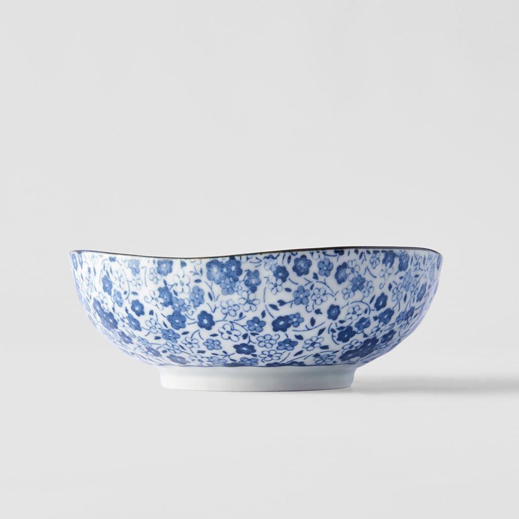 Medium Bowl Blue Daisy 17 × 6 cm
