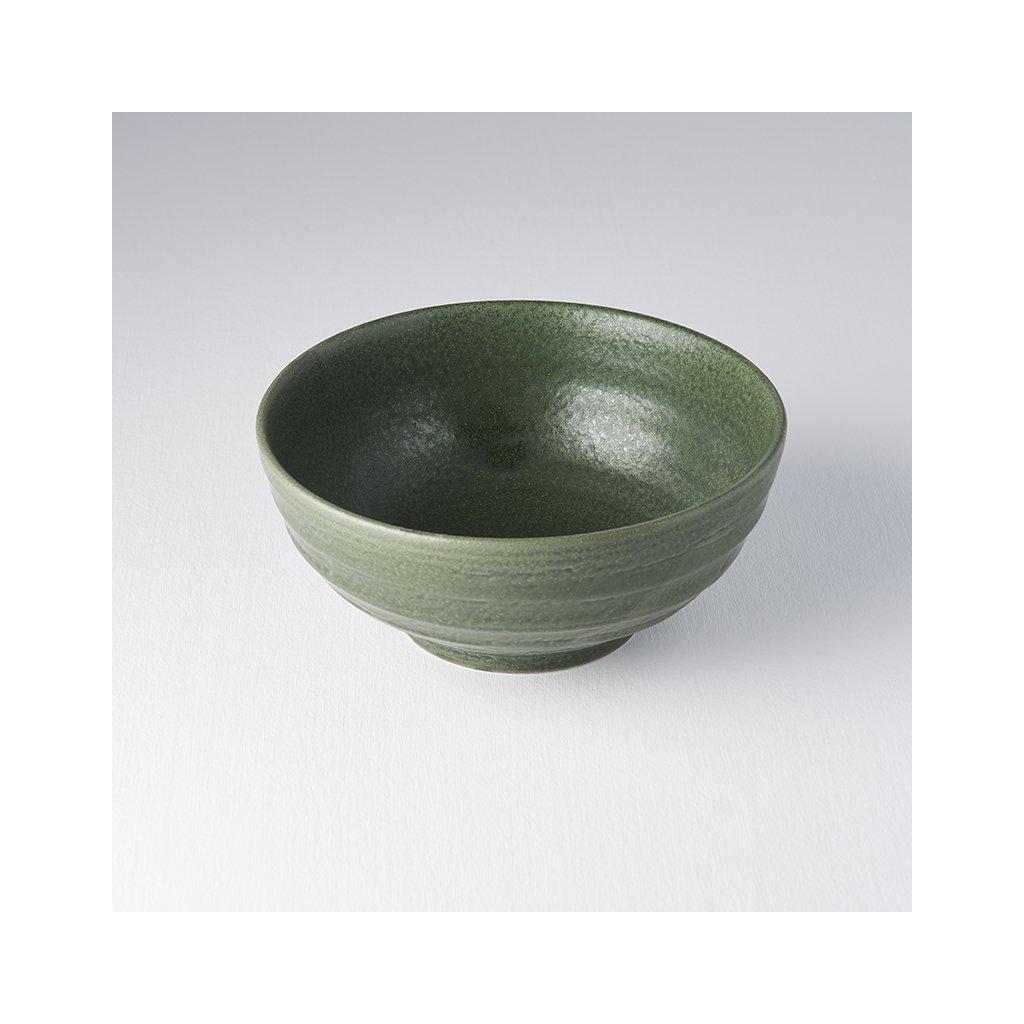 Medium Bowl U-Shape, EARTHY GREEN, 19 cm