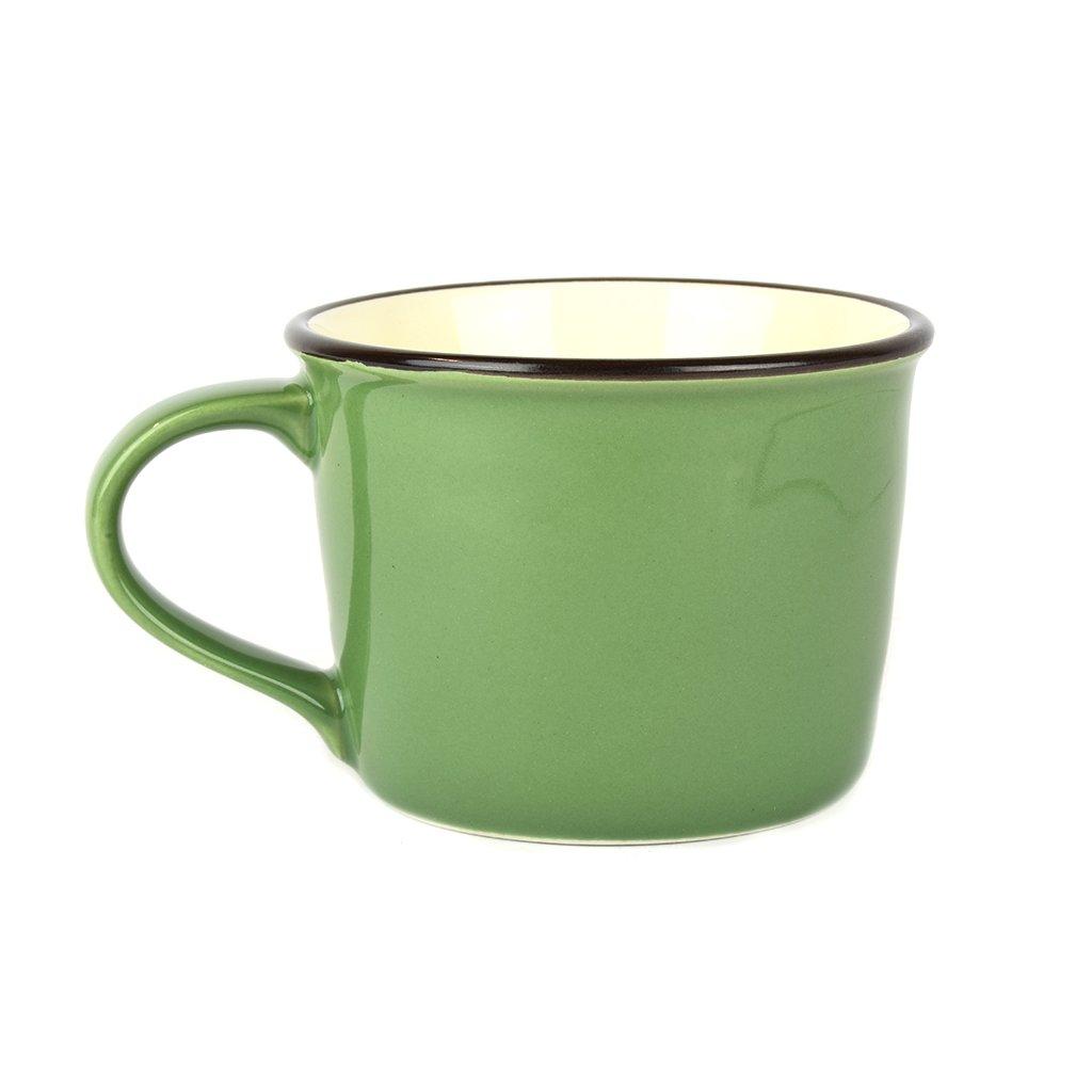 Mug COLOURBLOCK - green, wide