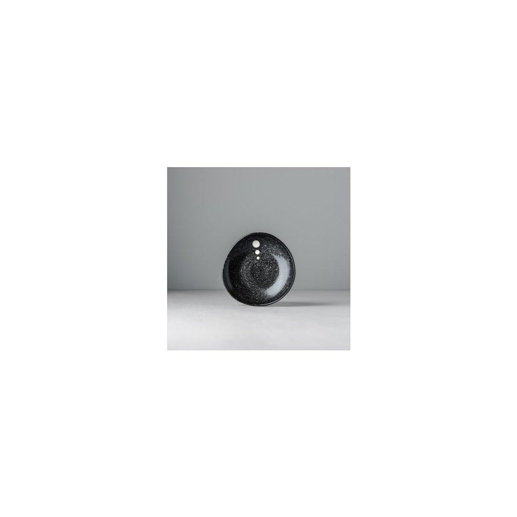 Round irregular plate White Dot 12 cm