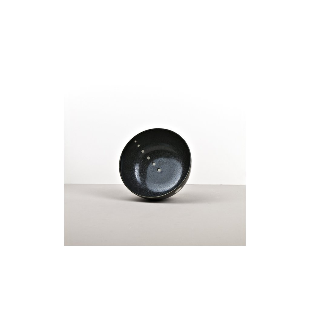 Udon deep bowl White dot 16 cm