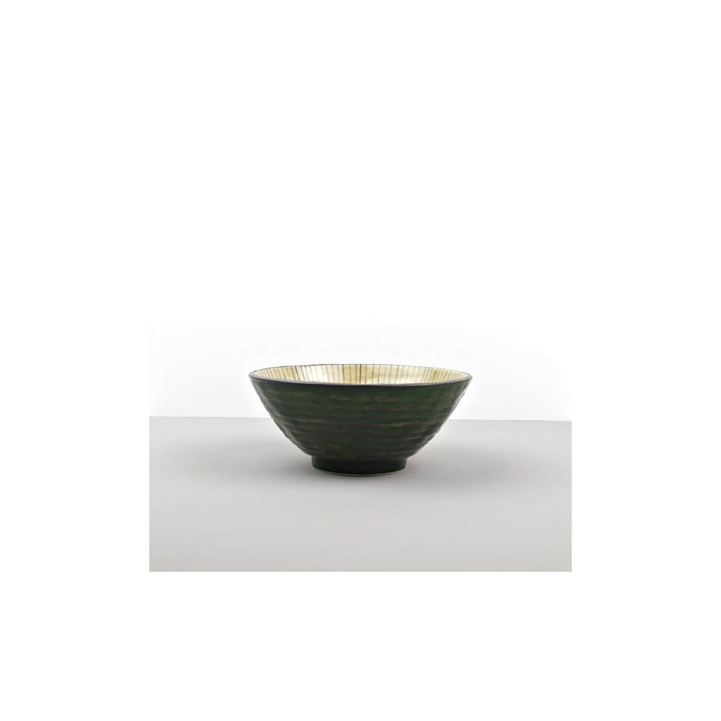 Udon bowl Dk Green, green 20 cm
