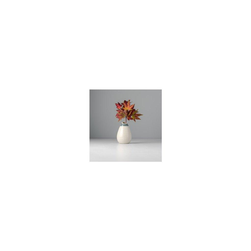 Raindrop shaped vase white 10 cm