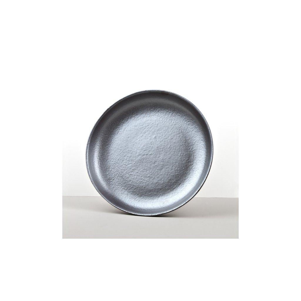 Large Flat Bowl, METEORITE, 28 x 5 cm