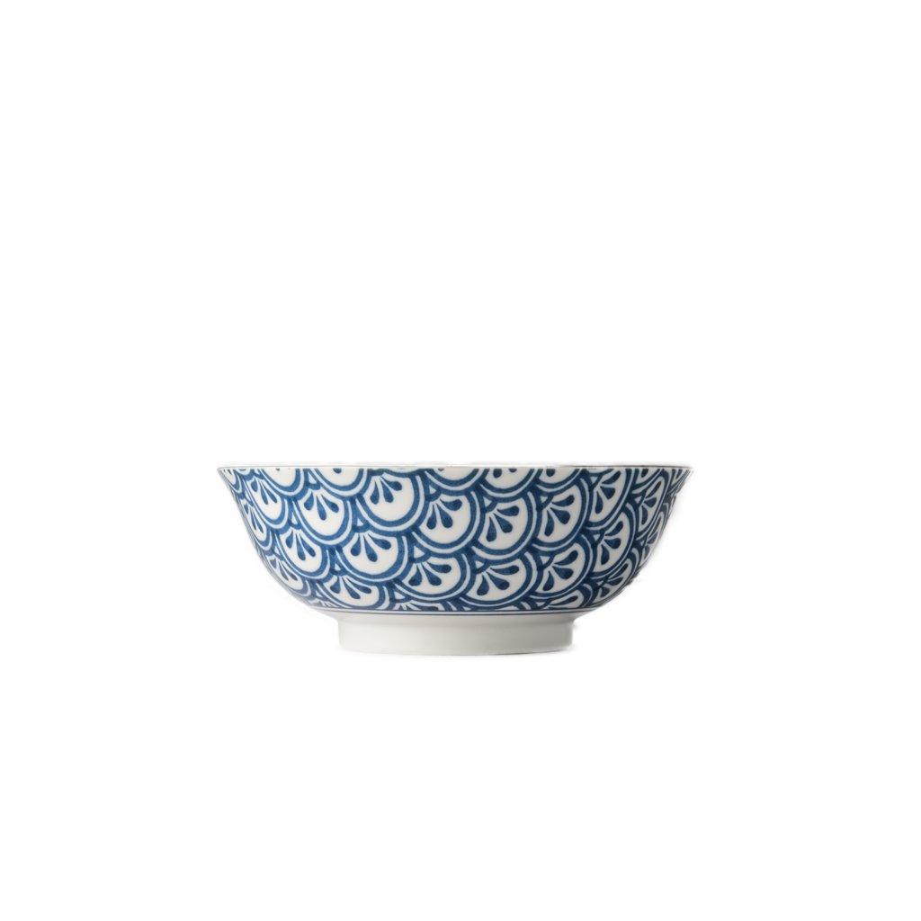 Large Bowl 3 Petal Crest, INDIGO IKAT, 20 cm