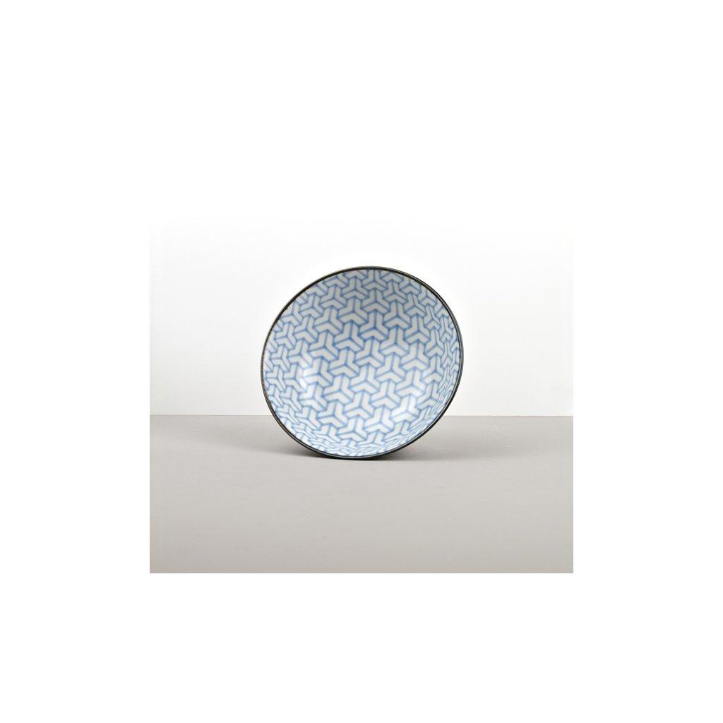 Large Bowl Herringbone, INDIGO IKAT, 20 x 8cm