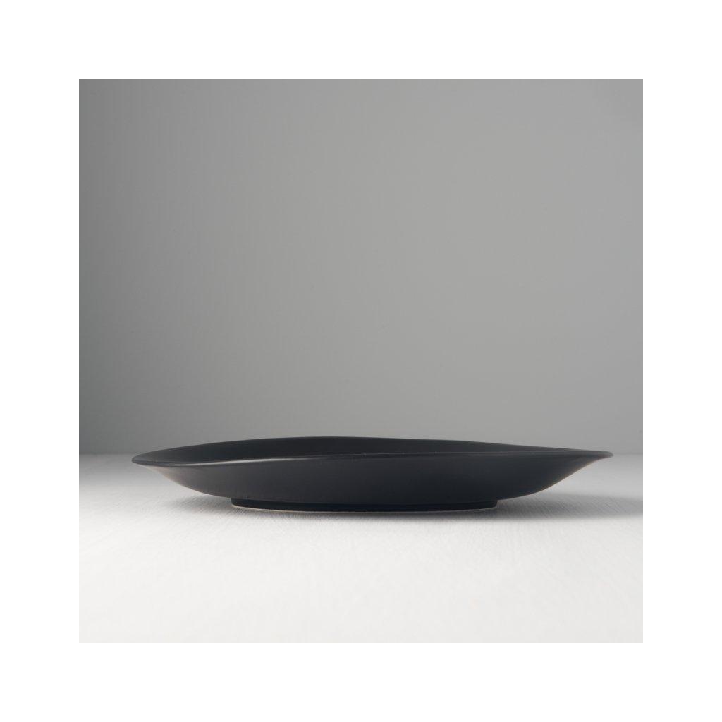 Large Round Plate Modern black 25 cm