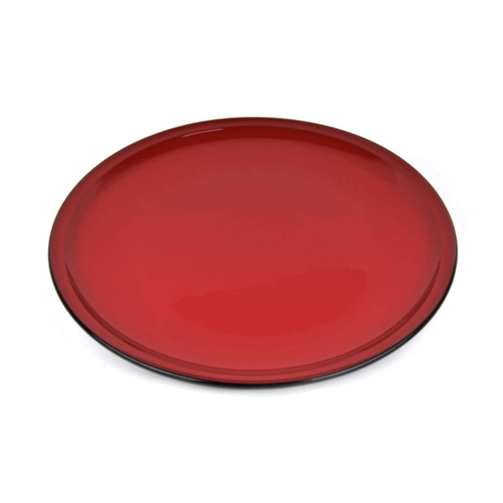 Large plate red 48 cm