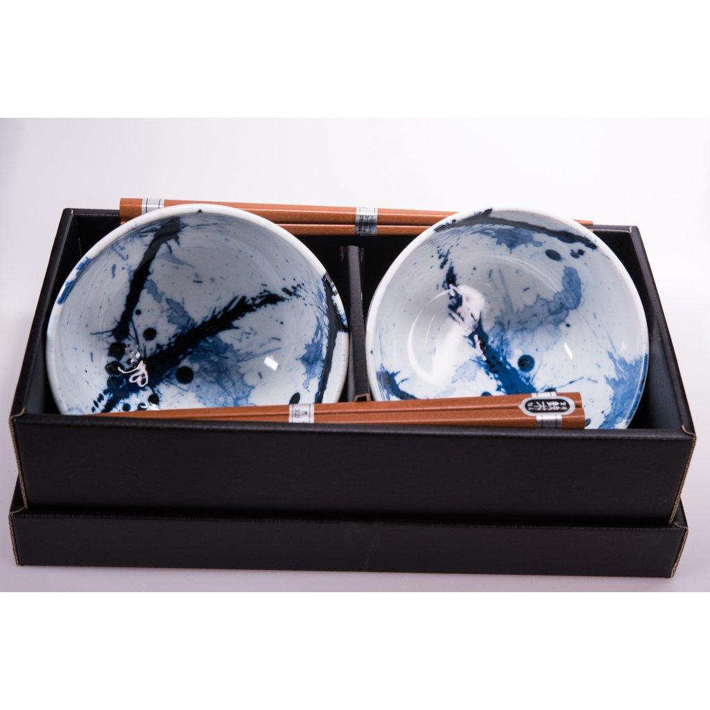 Bowl Set BLUE & WHITE Splash 13 cm