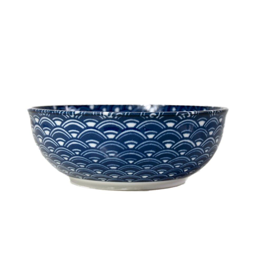Blue & White Wave Design Bowl 16 cm