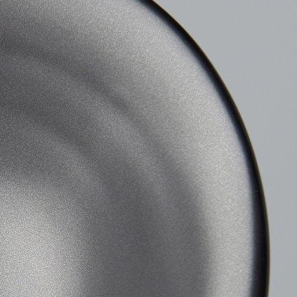 Large Bowl, irregular shape, black, MODERN, 24 cm