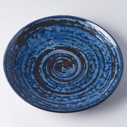 Round plate Copper Swirl 25 cm
