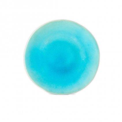 Round plate with irregular rim 26 cm
