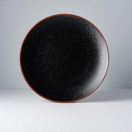 Round plate Tenmokku 29 cm