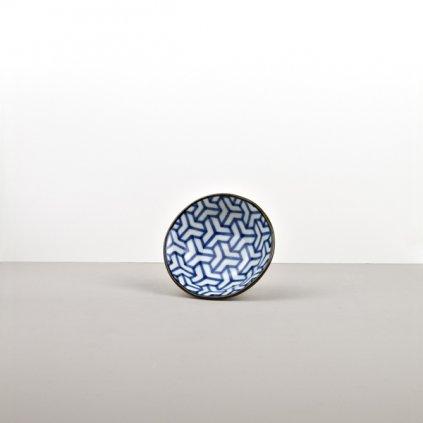 Small Bowl Herringbone, INDIGO IKAT, 11 cm