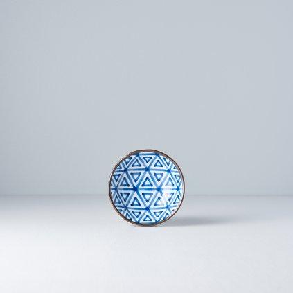 Small Bowl Triangle, INDIGO IKAT, 11 cm