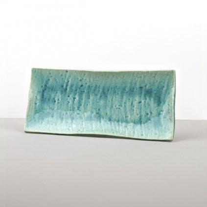 Sashimi Plate Turquoise 29 x 13 cm