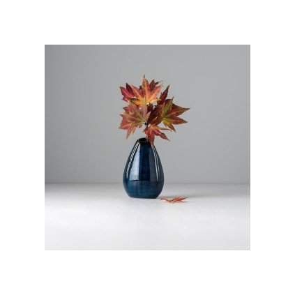 Raindrop shaped vase blue 10 cm