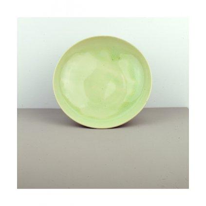 Large Flat Bowl, CELADON, 25 × 5,5 cm