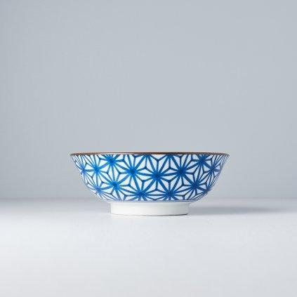Large Bowl Starburst, INDIGO IKAT, 19,5 cm