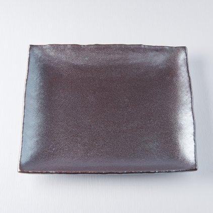 Large Rectangular Plate METEORITE 29 x 24 cm