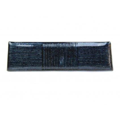 Sashimi plate 33 x 10 cm dark blue