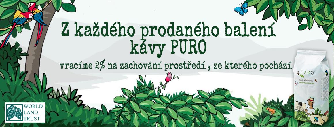 Z každého prodaného balení kávy Puro