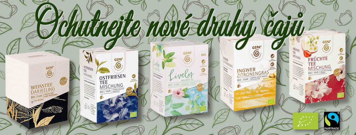 Ochutnejte nové čaeje