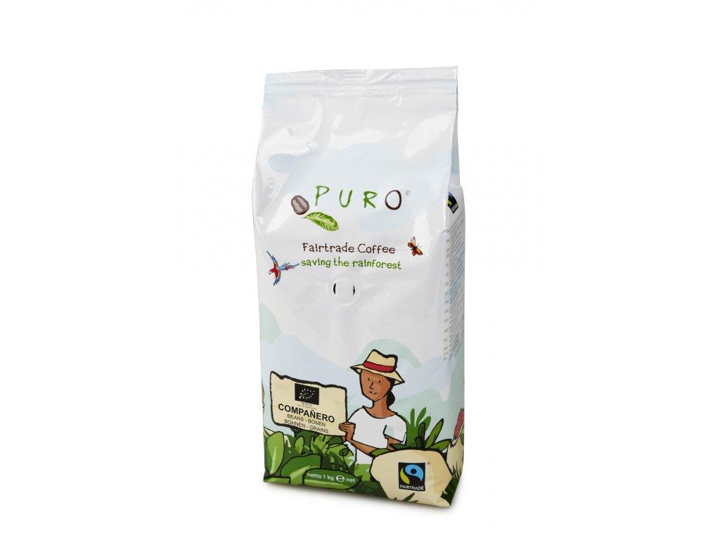 Zrnková káva Puro Fairtrade BIO COMPANERO 1 kg