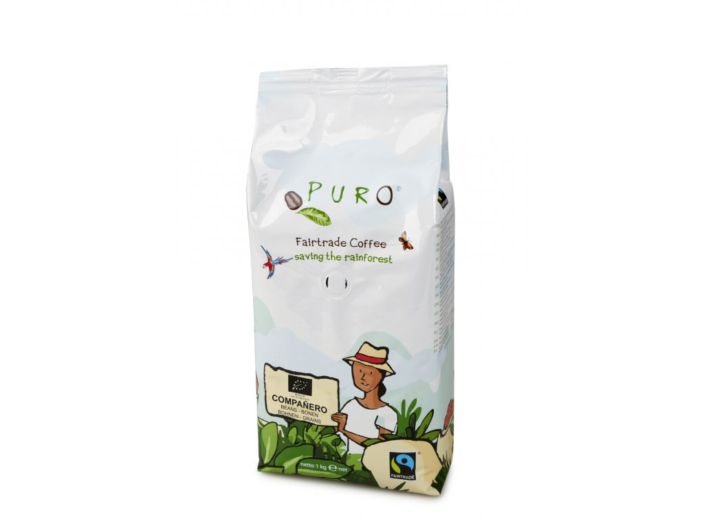 Zrnková káva Puro Fairtrade BIO COMPANERO 1 kgRS3018 501692 Puro FT Bio Bonen 1kg Compañero lpr