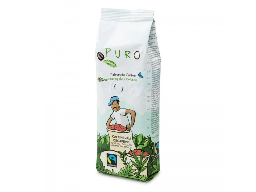 Mletá káva bez kofeinu Puro Fairtrade 250g