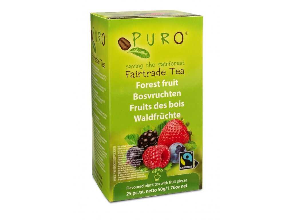 Fairtrade čaj porcovaný Puro lesní směs 25x2g