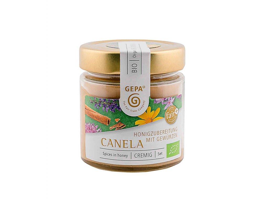 Bio květový med Canela se skořicí - pastovaný 250g