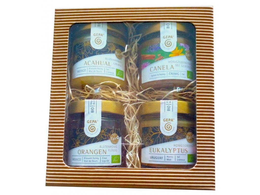 Fairtrade dárkový balíček Ochutnávka netradičních medů
