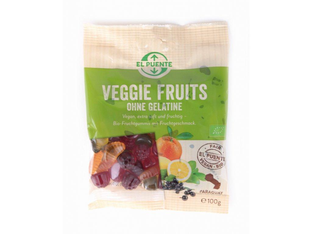 Bio veganské gumové bonbóny ovocné, 100 g