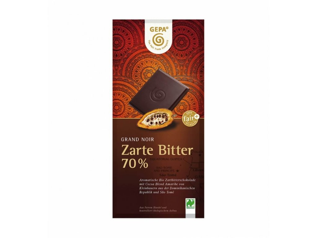 BIO hořká čokoláda 70%, 100g
