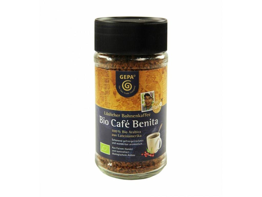 Instantní káva Fairtrade BIO Benita 100 g
