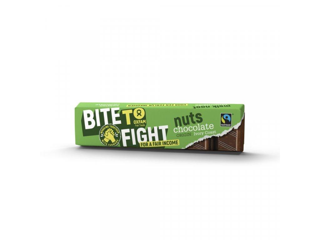 Fair čokoládová tyčinka s ořechy, 47g