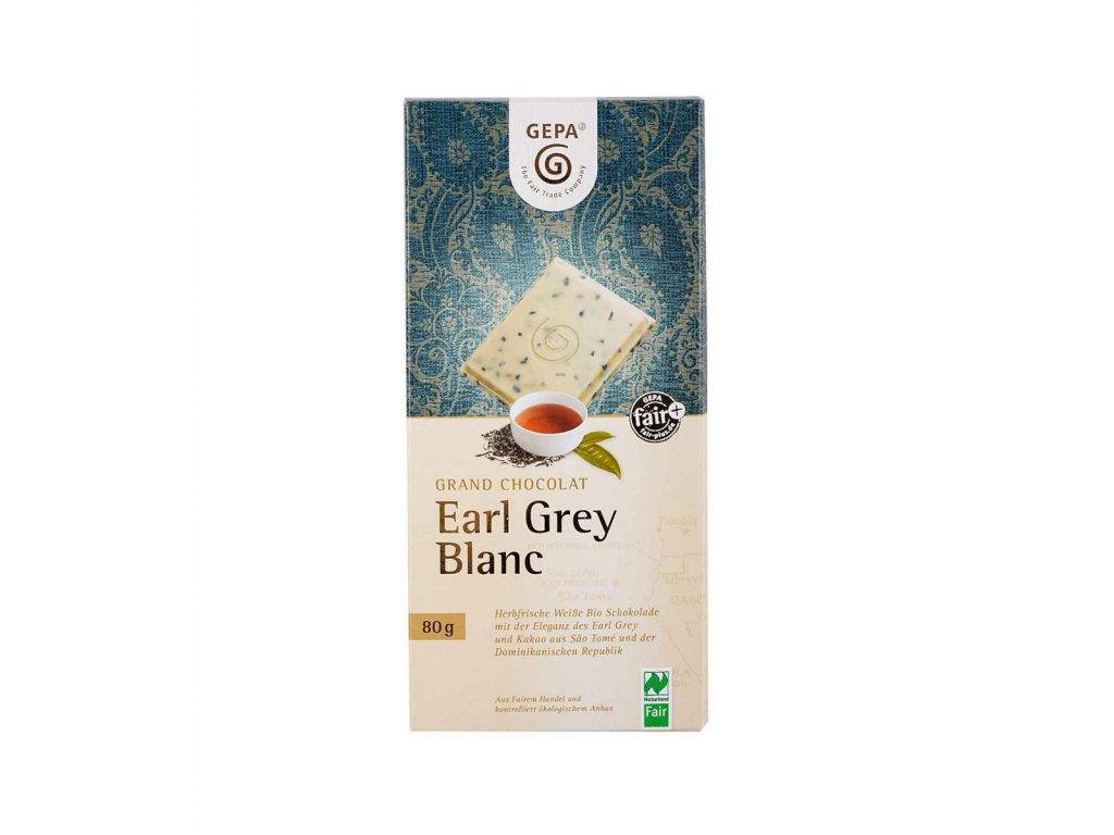 BIO bílá čokoláda s čajem Earl Grey, 80 g