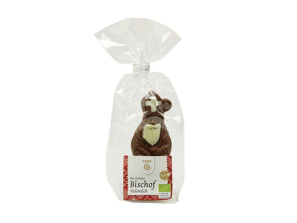 BIO mléčná čokoláda Biskup malovaný, 50 g