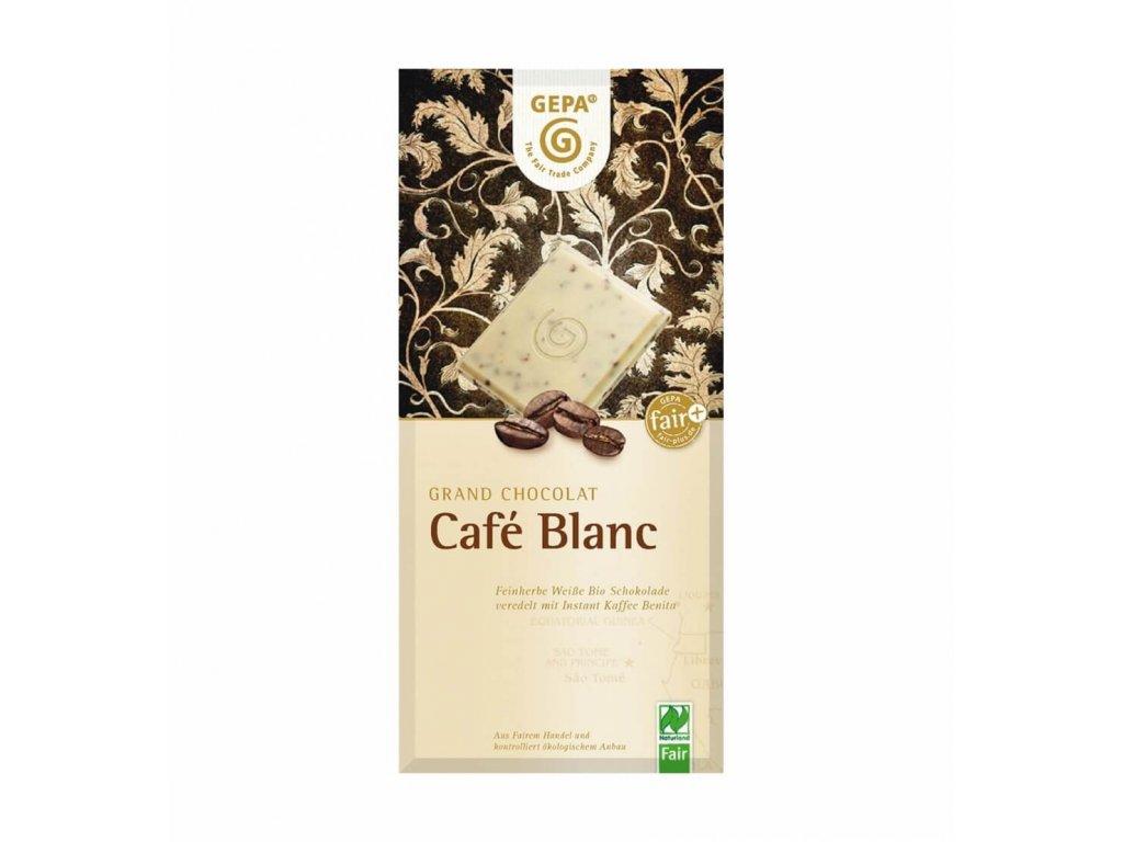 BIO bílá čokoláda s instantní kávou 100g.
