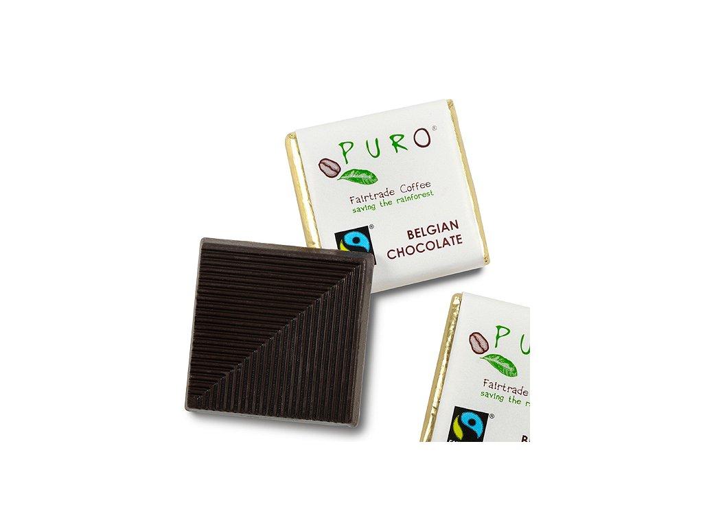 Puro hořká čokoláda ke kávě 250 ks