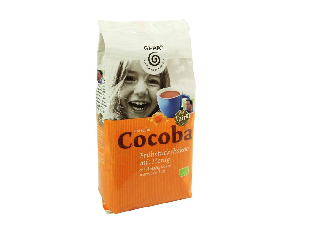 BIO instantní čokoláda s medem COCOBA 400g.