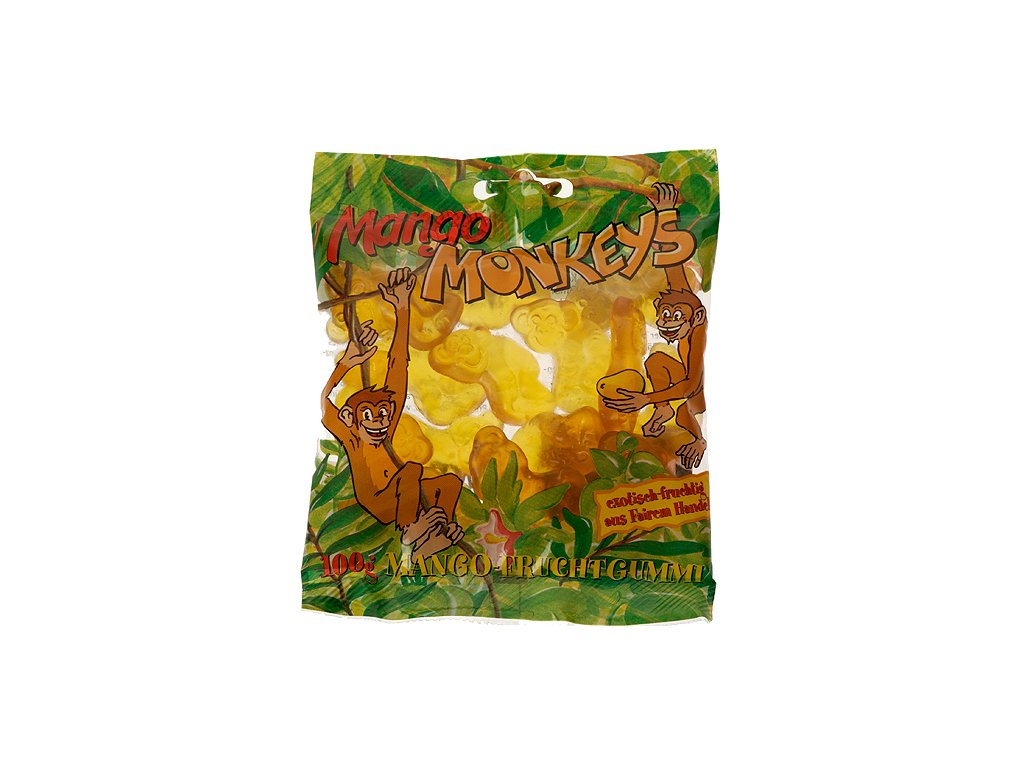 Mango opičky želatinové bonbóny, 100 g