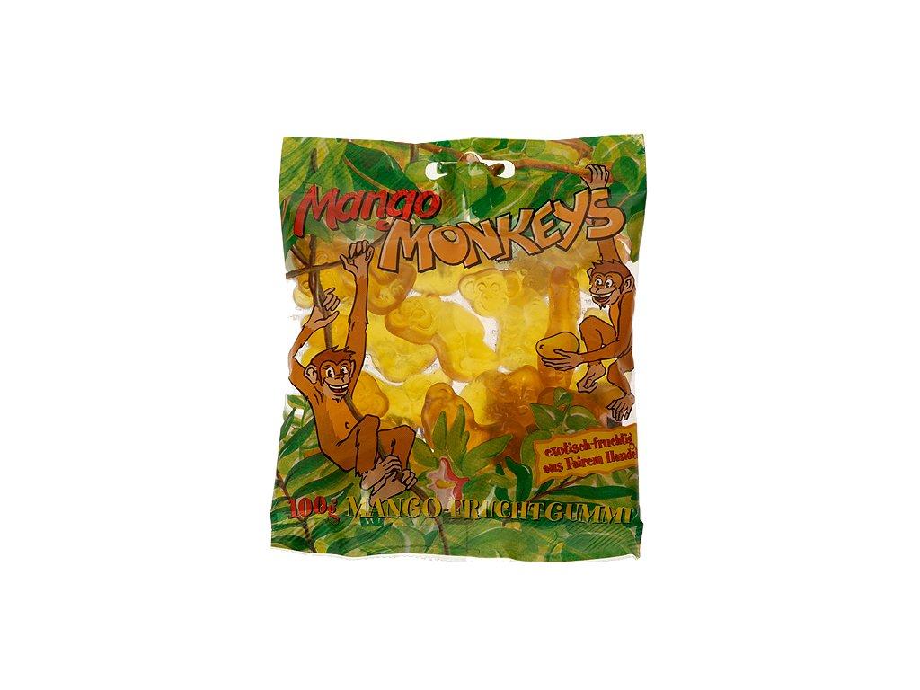 Mango opičky želatinové bonbóny