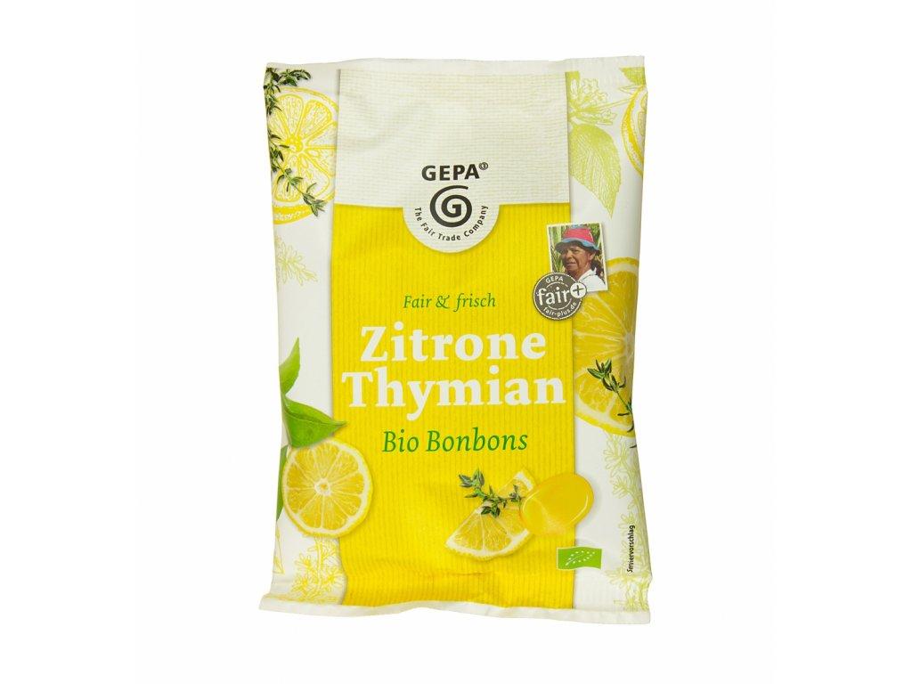 Bonbóny citrón, tymián