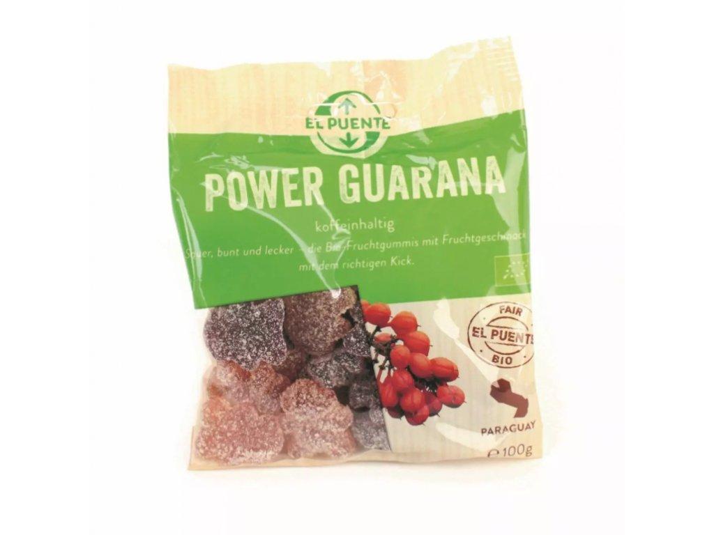 Bio želatinové bonbóny s guaranou 100 g